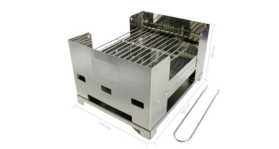 Esbit Grill BBQ-Box Grill 300 S grå/sort